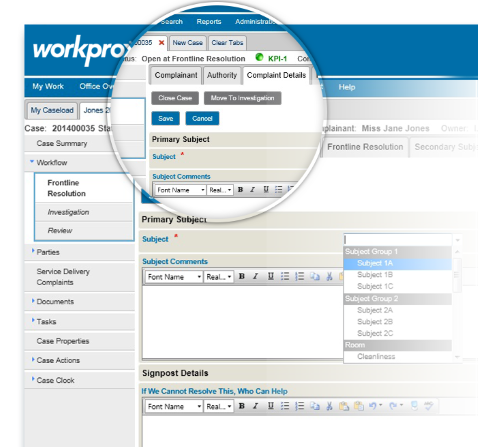 Img: Workpro Workflow Screenshot