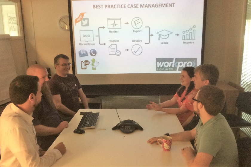 Workpro team discuss project